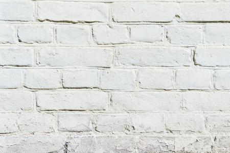 white brick wall texture, full frame view