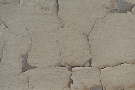 close-up view of old grey weathered wall texture Banco de Imagens