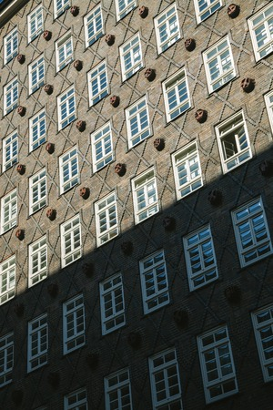 HAMBURG, GERMANY - 28 JUNE 2018: low angle view of beautiful building in Hamburg, Germany