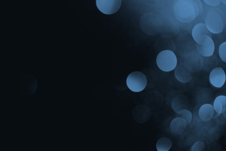 blue bokeh on black background for holiday