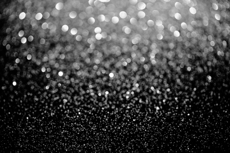 silver sparking blurred glitter texture, holiday background Stock Photo
