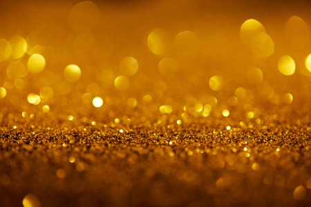 abstract background with gold glitter and bokeh Stock Photo - 108650747