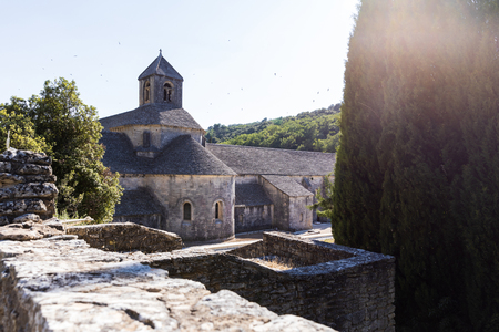 old historic Abbey of Senanque, Gordes, Luberon, Provence