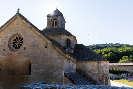 beautiful historic Abbey of Senanque, Gordes, Luberon, Provence