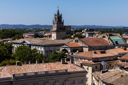 beautiful architecture and panoramic Avignon cityscape, provence, france
