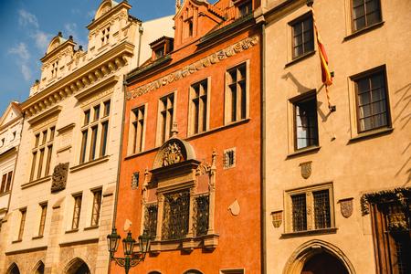 PRAGUE,CZECH REPUBLIC - JUNE 23, 2017: The Old Town Hall of Prague, Czech Republic Redakční