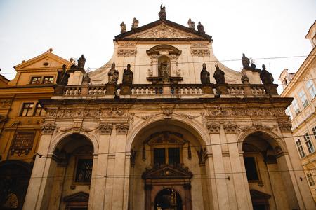 PRAGUE,CZECH REPUBLIC - JUNE 23, 2017: Catholic Church of St. Salvador in Prague, Czech Republic
