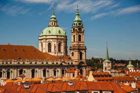 PRAGUE,CZECH REPUBLIC - JUNE 23, 2017: St. Nicholas Church in Prague, Czech Republic