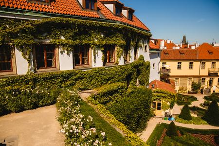 PRAGUE,CZECH REPUBLIC - JUNE 23, 2017: view of beautiful buildings in Prague, Czech Republic Editorial