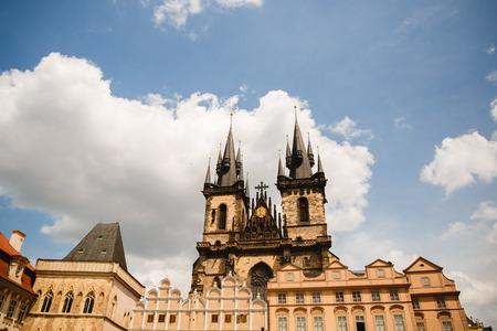 PRAGUE,CZECH REPUBLIC - JUNE 23, 2017: Prague old town square, Czech Republic