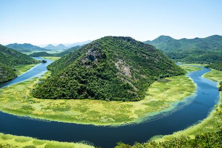 beautiful Crnojevica River (Rijeka Crnojevica) in Montenegro
