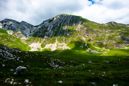 beautiful mountains with sunlight in Durmitor massif, Montenegro