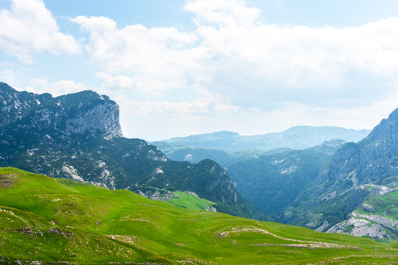 beautiful Durmitor massif with mountains in Montenegro