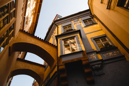 buildings and arch old town in Prague, Czech Republic