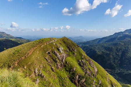 scenic view of mountains and cloudy blue sky, Asia Stok Fotoğraf