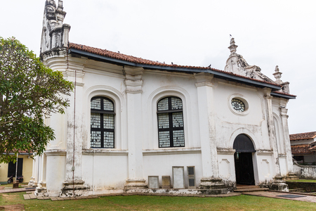 scenic view of ancient city church, sri lanka, galle fort