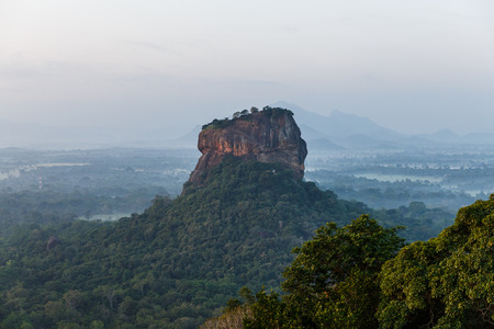 beautiful scenic view of mountains covered with green plants, sri lanka, sigiriya