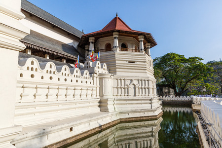 Scenic view of beautiful antique architecture with river in Asia, kandy, sri lanka