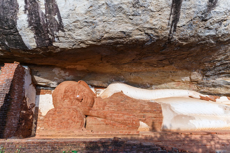close up view of traditional ancient religious monument in Asia, sri lanka, sigiriya