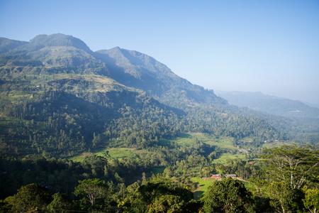 beautiful scenic view of mountains and clear blue sky, sri lanka, nuwara eliya