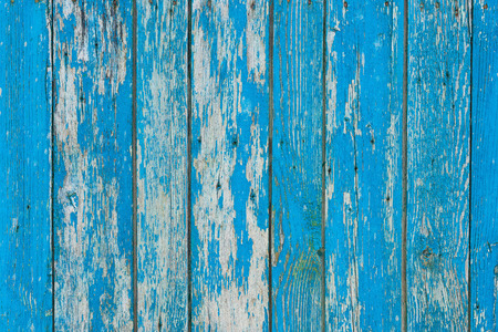old scratched weathered blue wooden planks background Standard-Bild - 110524922