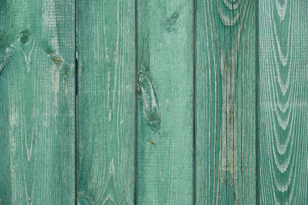 close-up view of old green wooden planks textured background