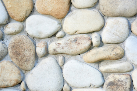 close-up view of light stone wall textured background Banco de Imagens