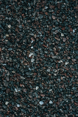full frame shot of small pebbles on ground for backdrop Archivio Fotografico - 111746503