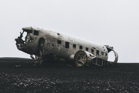 DC3 plane wreck at Solheimasandur beach in Iceland