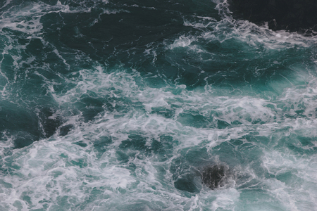 top view shot of wavy blue ocean for background Stock fotó - 109885813