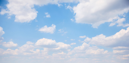 panoramic view of beautiful blue sky with white clouds