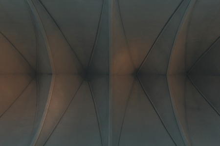 bottom view of lutheran church ceiling for background Stock Photo