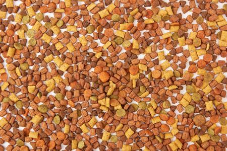 full frame image of pile of pet food background Stock Photo