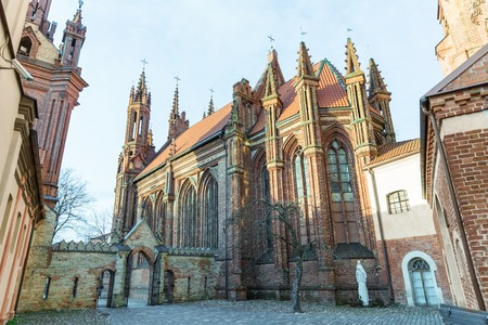 Architecture of beautiful Church of St Anne, Vilnius, Lithuania Reklamní fotografie - 110818945