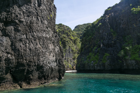Beautiful scenic view of rocky formations, Phi Phi islands Stok Fotoğraf