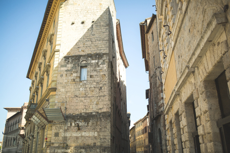 Old houses in historical quarter of Sienna 版權商用圖片