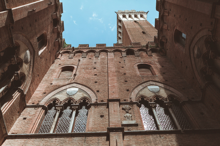 Windows with arch of Sienna Palazzo Pubblico