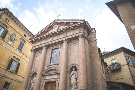 Saint Christopher church facade in Sienna