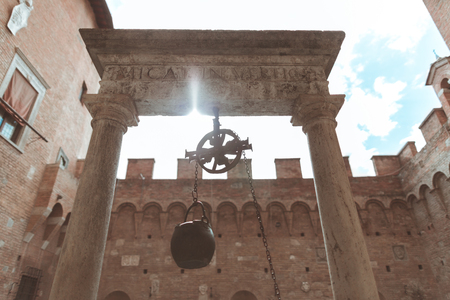 Holy place with censer in Sienna city