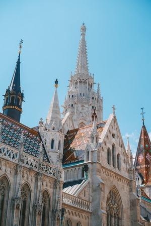 Low angle view of roman catholic Matthias Church in Budapest, Hungary
