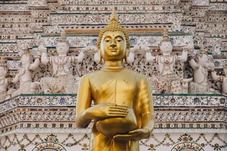 Traditional ancient Buddha statue in Bangkok, Thailand Stock Photo