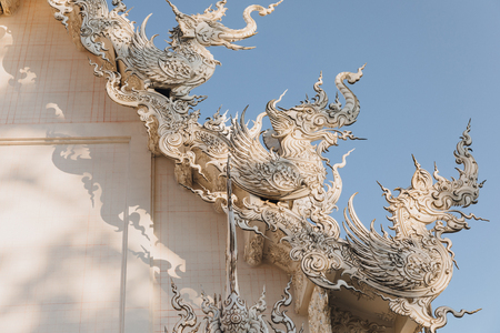 Sculptures at Wat Rong Khun White Temple, Chiang Rai, Thailand