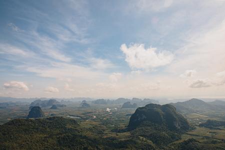 Aerial view of beautiful scenic landscape in Krabi, Thailand