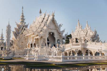 Architecture of Wat Rong Khun White Temple, Chiang Rai, Thailand
