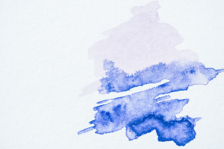 Abstract blue watercolor painting on white paper 版權商用圖片