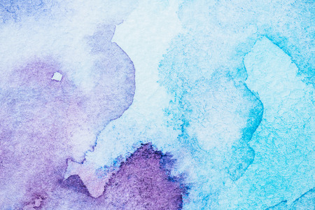 handmade light blue and purple watercolor texture