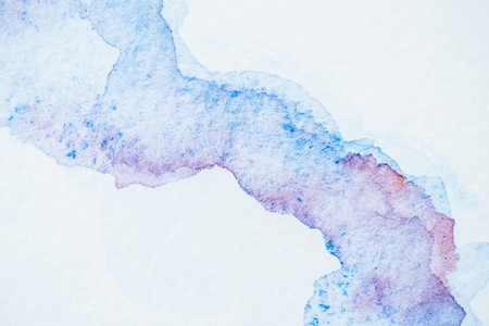 abstract background with blue and purple watercolor blots