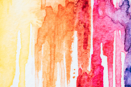 close up of abstract colorful watercolor strokes background
