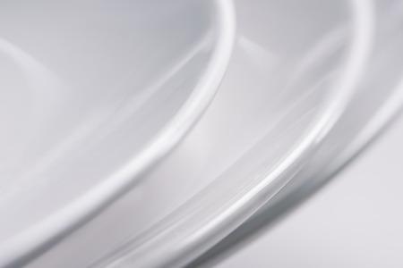 Close-up view of white ceramic plates Zdjęcie Seryjne