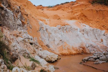 Landscape of Fairy Stream Canyon. Mui Ne. Vietnam Stock Photo